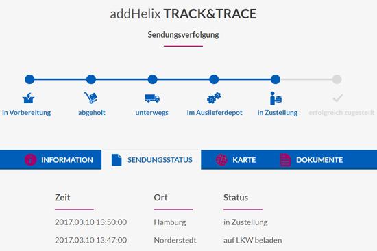 Track&Trace, informieren Sie Ihre Kunden automatisch per E-Mail über den Status der Transporte.